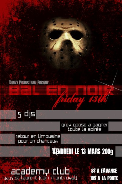 BAL EN NOIR @ Academy Club Flyer